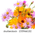 autumnal bouquet of asters and... | Shutterstock . vector #155966132