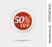 discount with the price is 50  ....   Shutterstock .eps vector #1559687642
