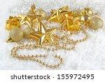 golden  christmas decorations... | Shutterstock . vector #155972495