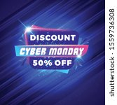 cyber monday sale sticker.... | Shutterstock .eps vector #1559736308