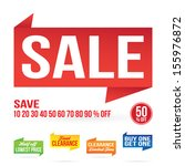 sale sign graphics isolated on...   Shutterstock .eps vector #155976872