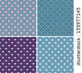 variants of seamless patterns.... | Shutterstock .eps vector #155977145