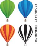 hot air balloon set in green ... | Shutterstock .eps vector #1559789795