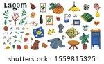 lagom. concept of scandinavian... | Shutterstock .eps vector #1559815325