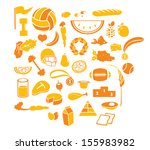 healthy and sports icon set   Shutterstock . vector #155983982