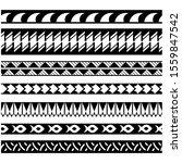 set of ethnic seamless black... | Shutterstock .eps vector #1559847542