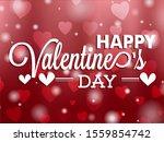 happy valentines day typography ...   Shutterstock .eps vector #1559854742