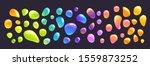 cartoon colorful glue drops set....   Shutterstock .eps vector #1559873252