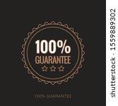 100  guaranteed label  ... | Shutterstock .eps vector #1559889302