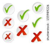 check mark stickers.vector. | Shutterstock .eps vector #155989226
