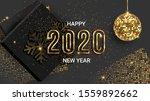 happy new year 2020 shimmer... | Shutterstock .eps vector #1559892662