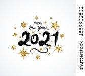 2021 hand written lettering...   Shutterstock .eps vector #1559932532