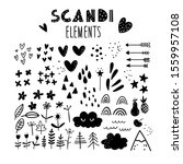 vector hand drawn black and... | Shutterstock .eps vector #1559957108