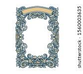 ornate frame  retro ornamental... | Shutterstock .eps vector #1560003635