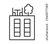 rooftop deck linear icon.... | Shutterstock .eps vector #1560077585