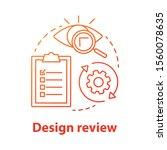 design review concept icon....