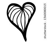 Drawn Heart  On A White...