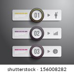 set of paper tags banners with... | Shutterstock .eps vector #156008282