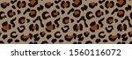 leopard skin. animal print.... | Shutterstock .eps vector #1560116072