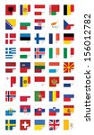 flags of european states  on... | Shutterstock .eps vector #156012782
