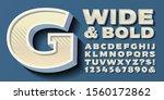 vector alphabet  a wide and...   Shutterstock .eps vector #1560172862