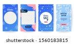 set of winter social media... | Shutterstock .eps vector #1560183815
