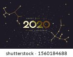 happy new 2020 year and merry... | Shutterstock .eps vector #1560184688