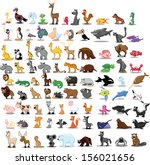 super set of 90 cute cartoon... | Shutterstock .eps vector #156021656