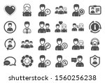 user people icons. male and... | Shutterstock .eps vector #1560256238