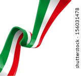 italian background with flag  | Shutterstock .eps vector #156031478