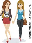 illustration of a teenage... | Shutterstock .eps vector #156034076