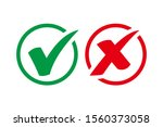 green check mark and red cross... | Shutterstock .eps vector #1560373058