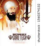 martyrdom of guru tegh bahadur... | Shutterstock .eps vector #1560374132
