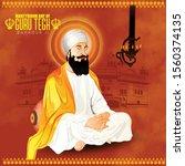 martyrdom of guru tegh bahadur...   Shutterstock .eps vector #1560374135