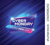 cyber monday sale sticker.... | Shutterstock .eps vector #1560408242