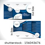 corporate tri fold brochure... | Shutterstock .eps vector #156043676