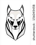 wolf  coyote  husky  fox | Shutterstock .eps vector #156045458