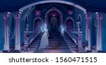 old castle with ghosts flying... | Shutterstock .eps vector #1560471515