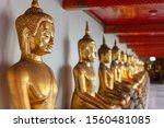 The Row Of Golden Buddah...