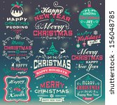 christmas and new year design... | Shutterstock .eps vector #156048785