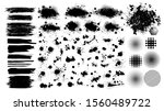 set of blots. black spots of... | Shutterstock .eps vector #1560489722