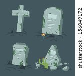 Halloween Tombs Set. Vector...