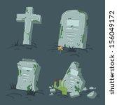 Halloween Tombs Set. Vector...