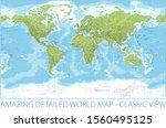world map   physical... | Shutterstock .eps vector #1560495125