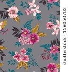 vintage seamless flower vector... | Shutterstock .eps vector #156050702
