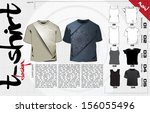 t shirts design template. vector | Shutterstock .eps vector #156055496