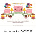 save the date   macaroons and...   Shutterstock .eps vector #156055592