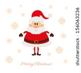 santa claus postcard | Shutterstock .eps vector #156063236