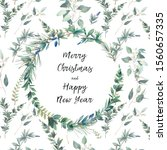 merry christmas and happy new... | Shutterstock . vector #1560657335