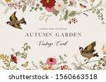 autumn garden. vector... | Shutterstock .eps vector #1560663518